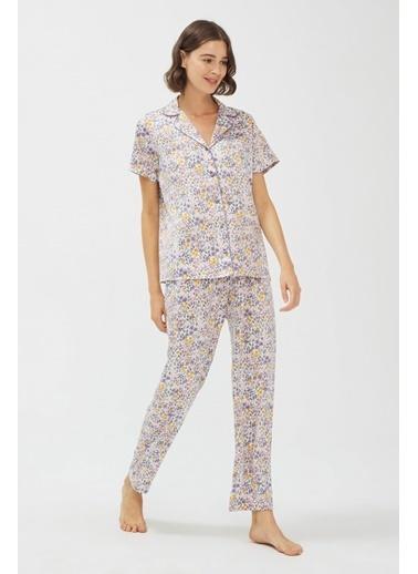 Penti Kadın Çok Renkli Grace  Pijama Takım PNHMLAEF20SK Renkli
